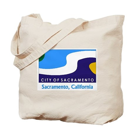 Sacramento CA Flag Tote Bag