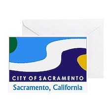 Sacramento CA Flag Greeting Card