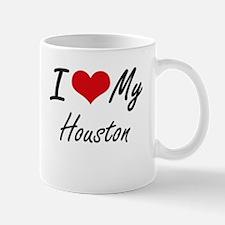 I Love My Houston Mugs