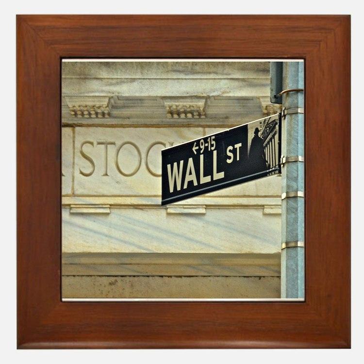 Wall Street! Framed Tile