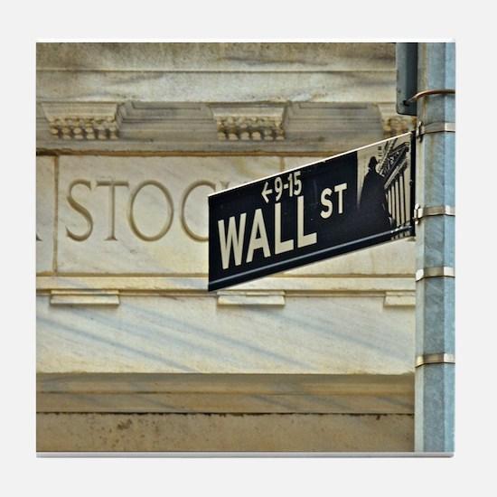 Wall Street! Tile Coaster