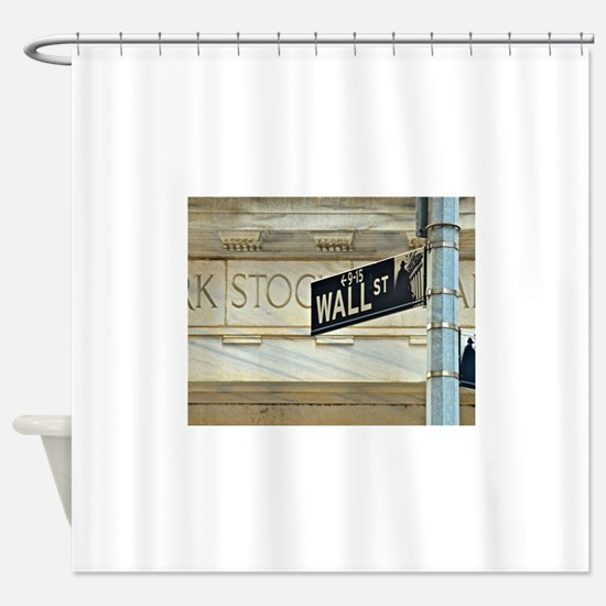 Wall Street! Shower Curtain