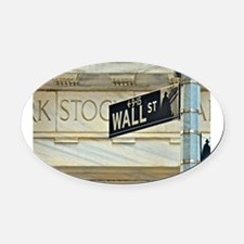 Wall Street! Oval Car Magnet