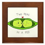 Two peas in a pod couples Framed Tiles