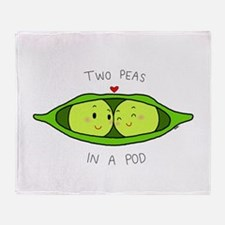 Two Peas in a Pod Throw Blanket