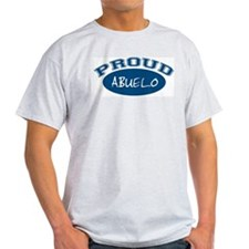 Proud Abuelo (blue) Ash Grey T-Shirt
