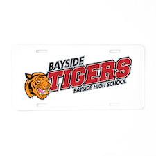 Bayside Tigers Modern Aluminum License Plate