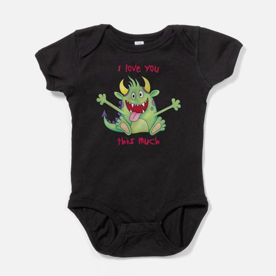 Cute Guess how much i love you Baby Bodysuit