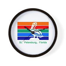 St. Petersburg FL Flag Wall Clock