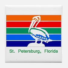 St. Petersburg FL Flag Tile Coaster