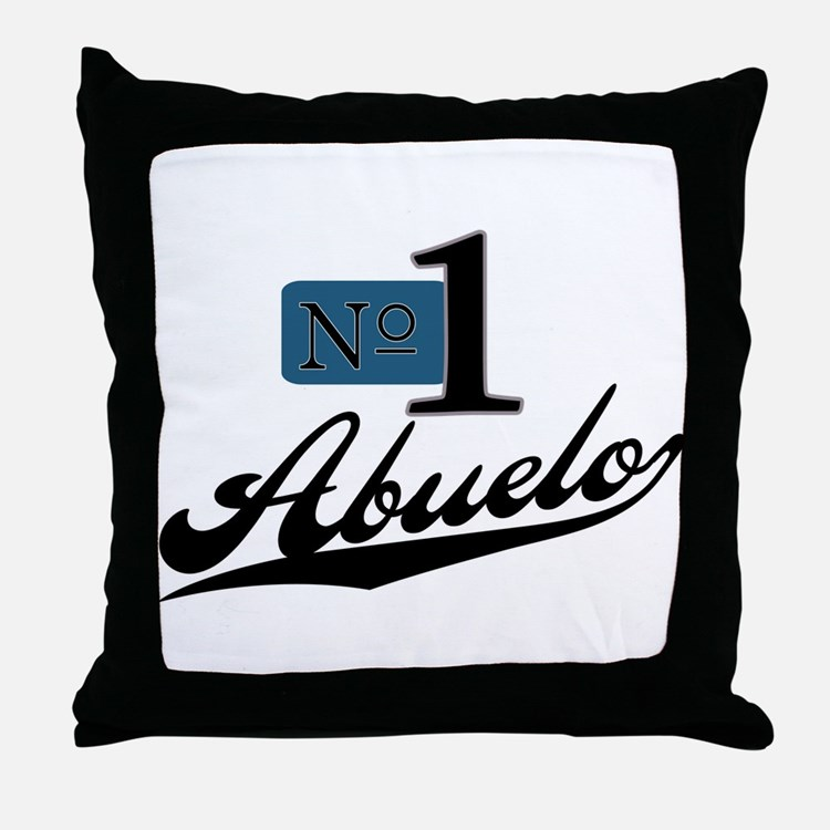 Number One Abuelo Throw Pillow