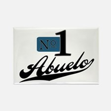 Number One Abuelo Rectangle Magnet