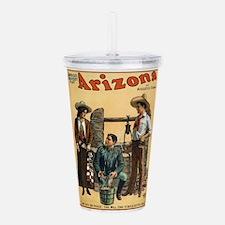 Vintage poster - Arizo Acrylic Double-wall Tumbler