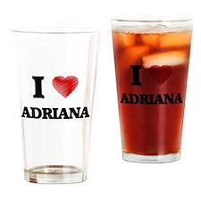 I Love Adriana Drinking Glass