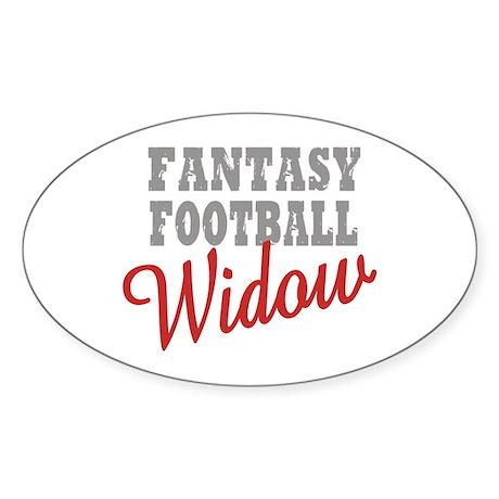 Fantasy Football Widow Oval Sticker