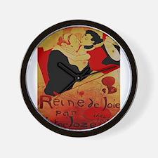 Vintage poster - Reine de Joie par Vict Wall Clock