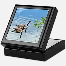 Swimming Geese Keepsake Box