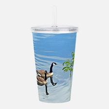 Swimming Geese Acrylic Double-wall Tumbler
