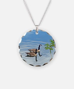 Swimming Geese Necklace