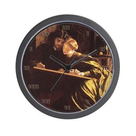 THE PAINTER'S HONEYMOON Wall Clock