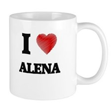 I Love Alena Mugs