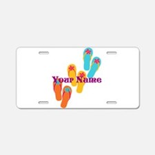 Personalized Flip Flops Aluminum License Plate