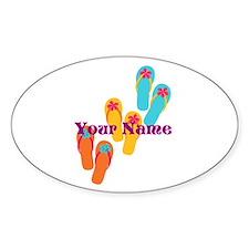 Personalized Flip Flops Stickers