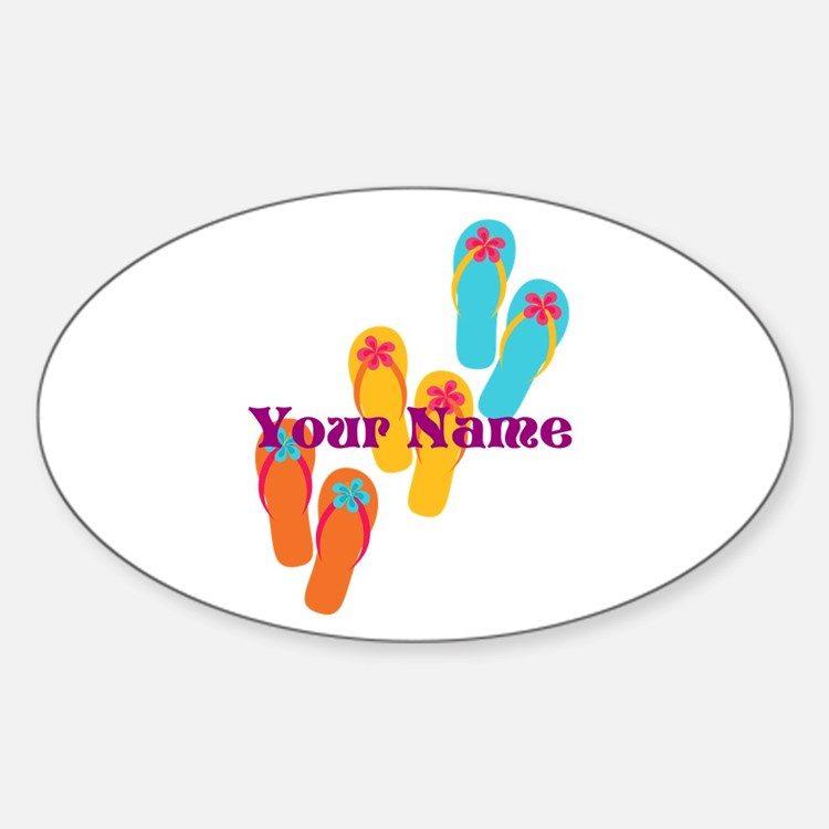 Personalized Flip Flops Stickers