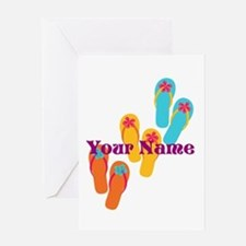 Personalized Flip Flops Greeting Cards