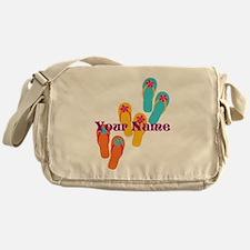 Personalized Flip Flops Messenger Bag