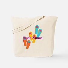 Personalized Flip Flops Tote Bag