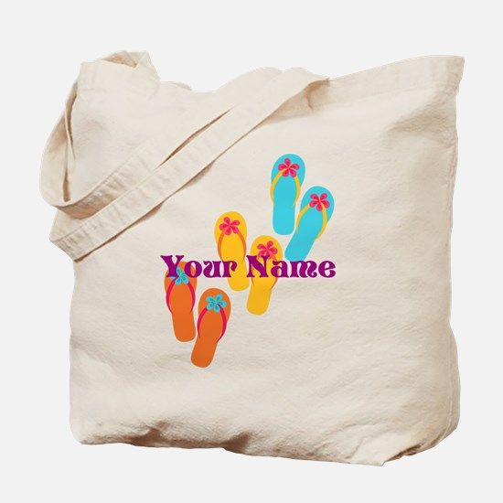 Personalized Flip Flops Tote Bag