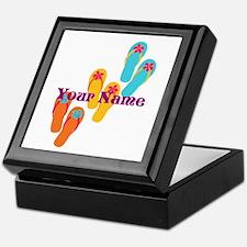 Personalized Flip Flops Keepsake Box