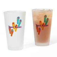 Personalized Flip Flops Drinking Glass