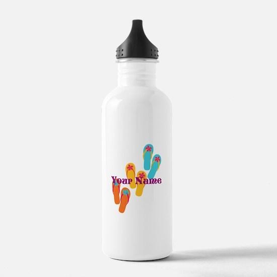 Personalized Flip Flops Water Bottle