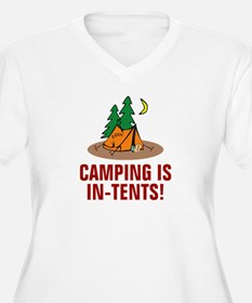 Camping is in-tents Plus Size T-Shirt