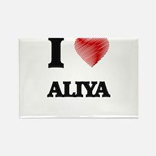 I Love Aliya Magnets