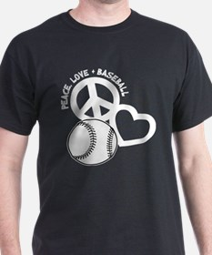 PEACE-LOVE-BASEBALL T-Shirt