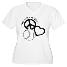PEACE-LOVE-BASEBA T-Shirt