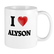 I Love Alyson Mugs