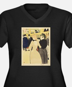 Vintage poster - At the Moulin R Plus Size T-Shirt
