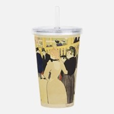 Vintage poster - At th Acrylic Double-wall Tumbler