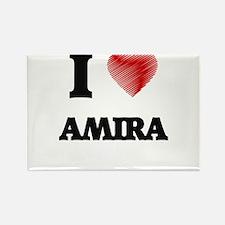 I Love Amira Magnets