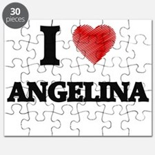 I Love Angelina Puzzle
