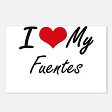 I Love My Fuentes Postcards (Package of 8)