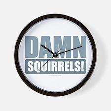Damn Squirrels! Wall Clock