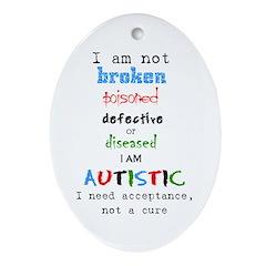 Autism Acceptance Ornament (Oval)