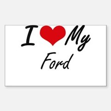 I Love My Ford Decal