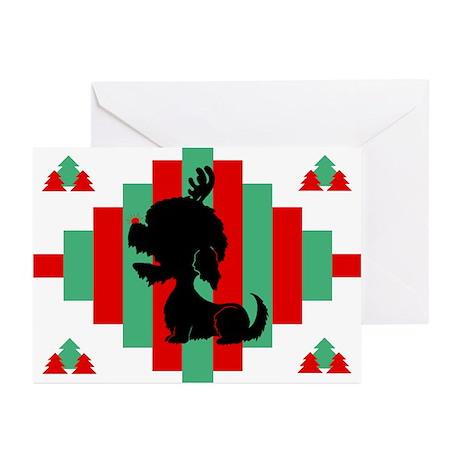 Dandie Dinmont Christmas Cards (Pk of 10)