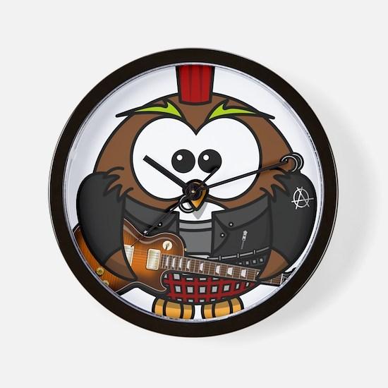 Punk Rock Owl Wall Clock